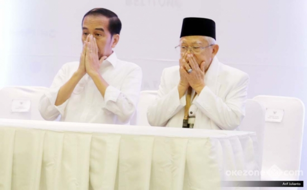 Jokowi-Ma'ruf Amin. (Foto: Arif Julianto/Okezone)