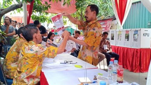 Pencoblosan pada Pemilu 2019. (Foto : Muhamad Rizky/Okezone)