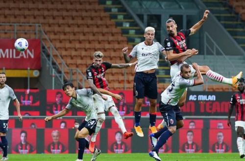 Zlatan Ibrahimovic buka keunggulan AC Milan (Foto: AC Milan)