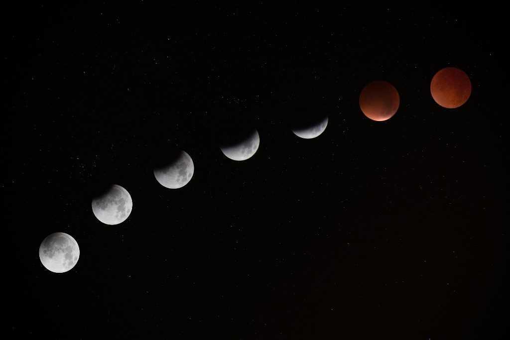 La superluna de 2020 en la noche del 7 al 8 de abril.