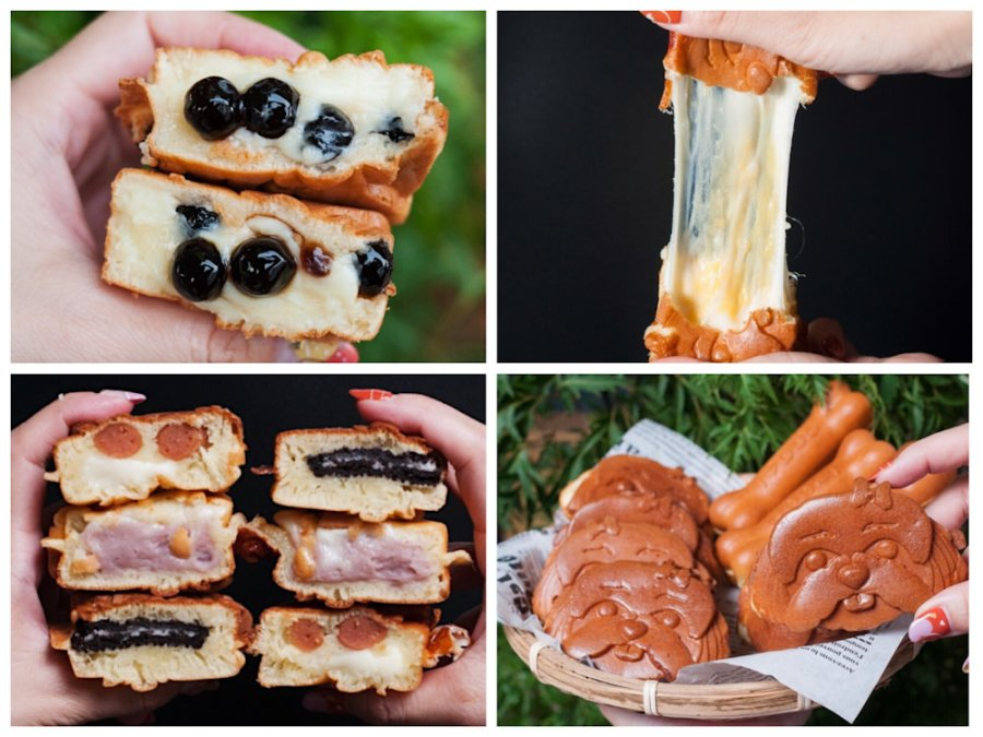 (台南美食/六甲區)《拾柒號倉雞蛋糕》西施犬造型雞蛋糕獨一無二,內餡飽滿好實在!近六甲百年麵茶冰!