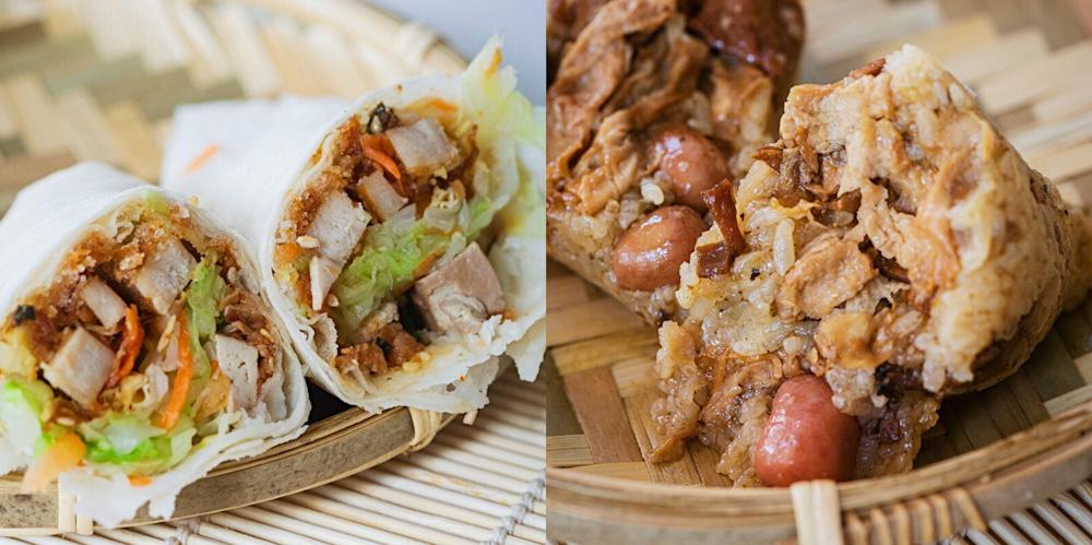 台南傳統市場裡臥虎藏龍的素食攤,素粽、素春捲切開滿滿都是料,想吃要趁早,晚來就賣光光了!