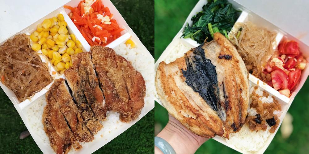 台南50元便當來囉~大家愛吃的雞排飯、魚肚飯、雞腿飯、排骨飯通通只賣$50元,還有附飲料和湯品喔!