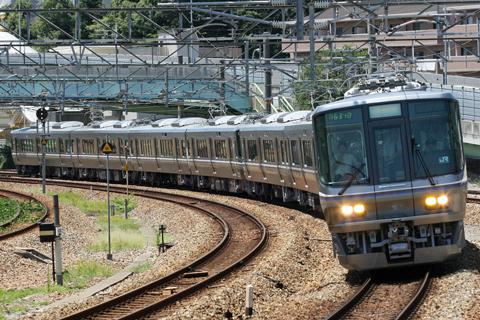 【JR西】223系Wパンタ車福知山線線試運転