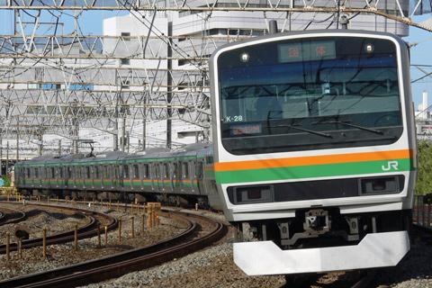 【JR東】E231系K-28編成ひまわり号