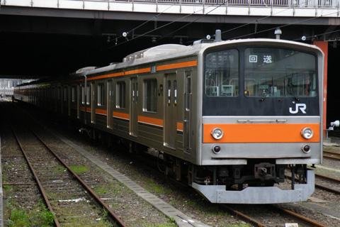 【JR東】205系M15編成OM入場