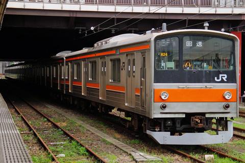 【JR東】205系M24編成OM入場