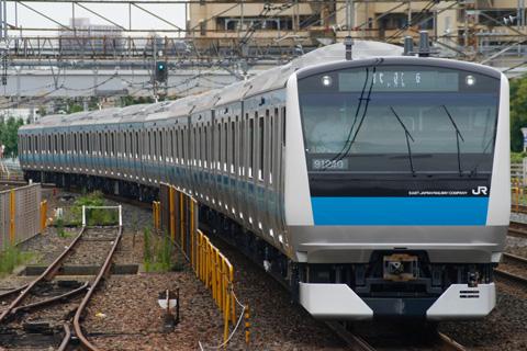 【JR東】E233系ウラ180編成ウラ区へ