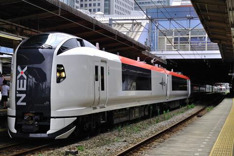 【JR東】E259系品川駅展示会