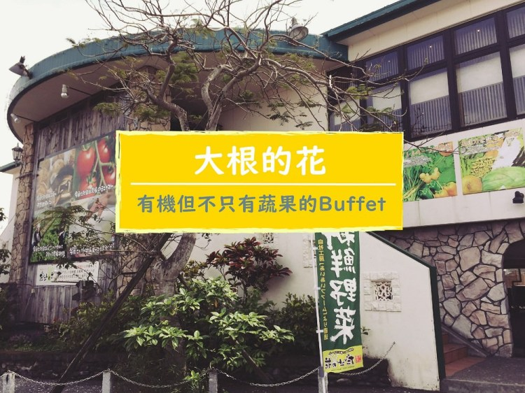 【沖繩中部美食】大根的花(だいこんの花),有機,但不只有蔬果,連小小孩都適合的健康Buffet (秘境)