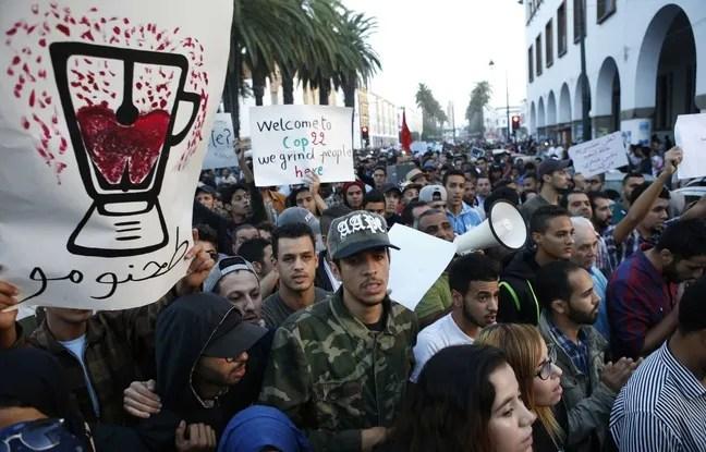 Manifestation à Rabat, au Maroc, le 30 octobre 2016, en hommage au poissonnier Mouhcine Fikri.