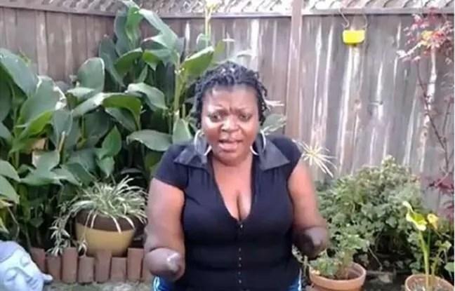 Capture d'une vidéo d'Apryl Michelle Brown, une Américain de 46 ans, qui a dû être amputée des bras et des jambes après avoir subi des injections au mastic pour augmenter le volume de ses fesses.