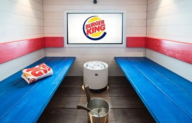 Le géant américain Burger King a ouvert un sauna en Finlande, dans l'un de ses fast-food de Helsinki.