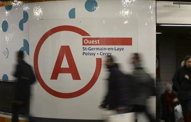 Signalétique du RER A à Châtelet-les-Halles à Paris le 29 janvier 2015