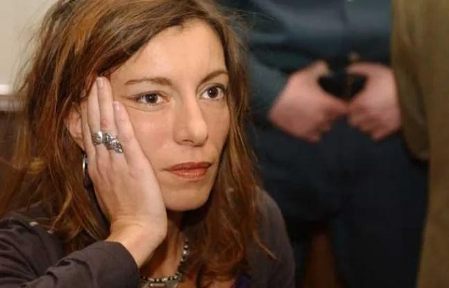 Kristina Rady au procès de Bertrand Cantat pour le meurtre de Marie Trintignant à Vilnius, en Lithuanie, le 22 mars 2004.