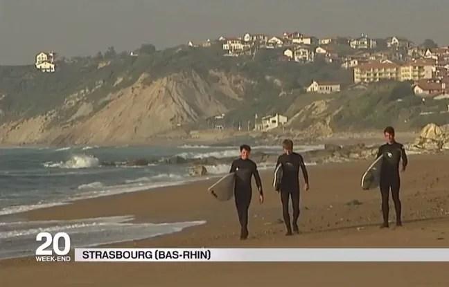 Des surfeurs à Strasbourg? Cette erreur du JT de France 2 a bien fait rire sur les réseaux sociaux, samedi soir.