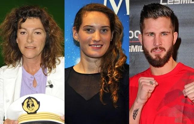 Les anciens sportifs Florence Arthaud, Camille Muffat et Alexis Vastine, décédés dans un crash d'hélicoptère sur le tournage du jeu de TF1 «Dropped», le 9 mars en Argentine.