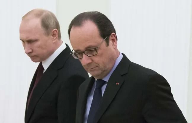 François Hollande et Vladimir Poutine, le 6 février 2015.