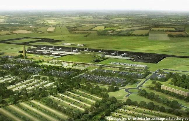 Image de synthese du projet d' aeroport de Notre-Dame-des-Landes