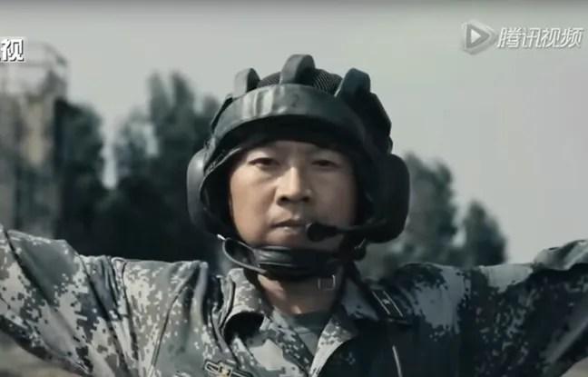 Capture d'écran du clip diffusée jeudi 28 avril par l'armée chinoise.