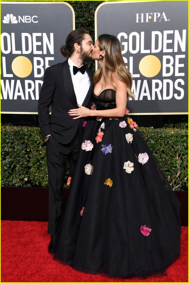 heidi-klum-and-fiance-tom-kaulitz-share-a-kiss-at-golden-globes-2019-03