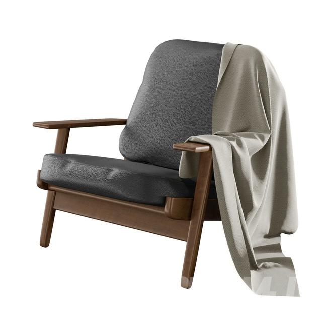 現代皮革休閑椅-3D模型-模匠網,3D模型下載,免費模型下載,國外模型下載