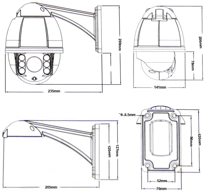 IP66 700TVL 5.1mm-51mm 10X ZOOM CCTV Security PTZ Camera 4
