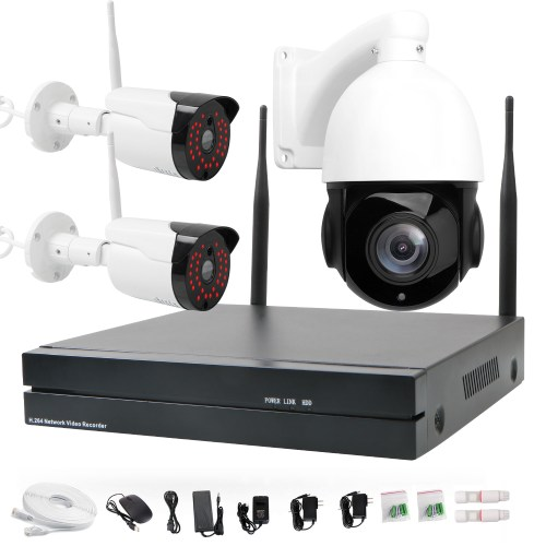small resolution of 20x 2mp ip ptz auto tracking security system 4ch wireless nvr 2pcs 2mp ip camera