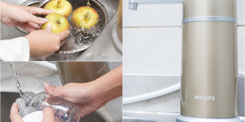 【生活】櫥上型淨水器推薦,時尚有品味的飛利浦Philips超濾櫥上型淨水器(WP3884)