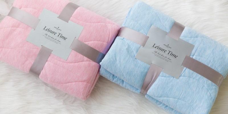 【夏日涼被】夏天必備的舒服HOYACASA莫代爾針織涼被,夏天蓋著好舒服~實品好有質感!!