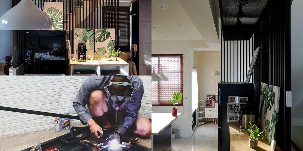 【居家DIY】乾燥花吊架,投射燈從無到有全紀錄,起家厝改造裝潢DIY!!
