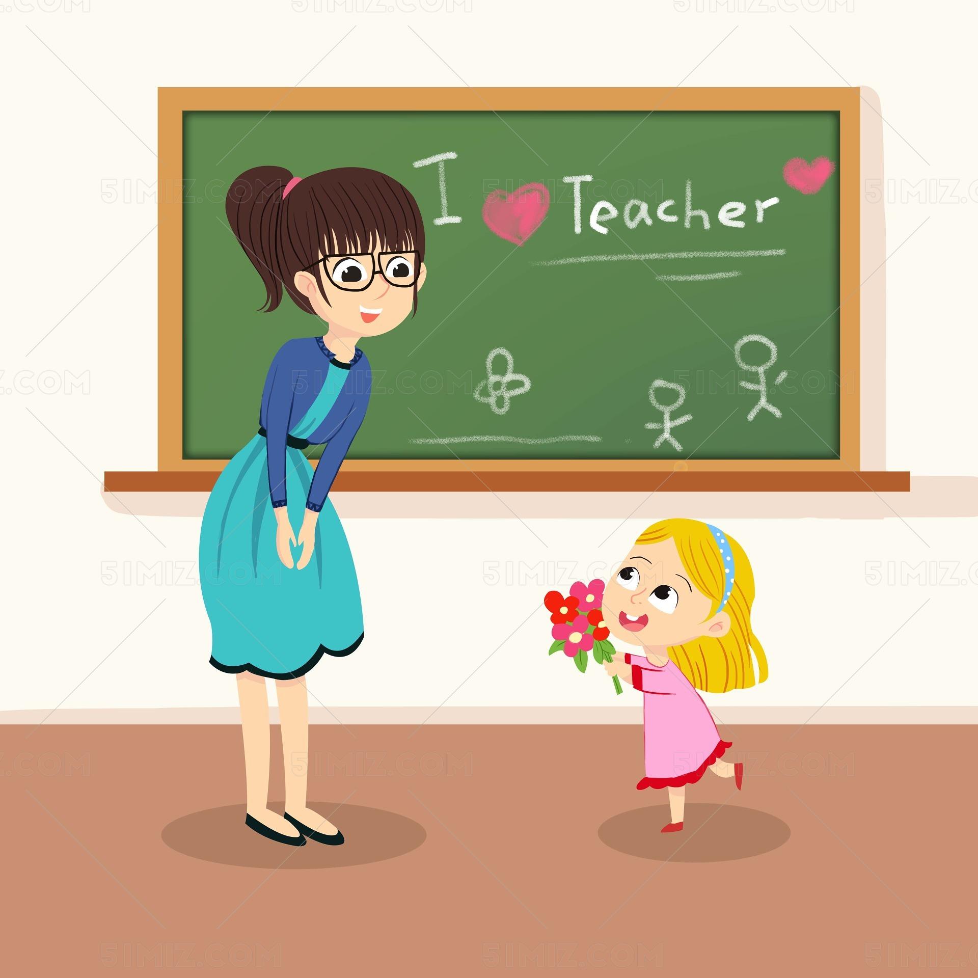 教師節學生給老師送花圖片素材免費下載 - 覓知網