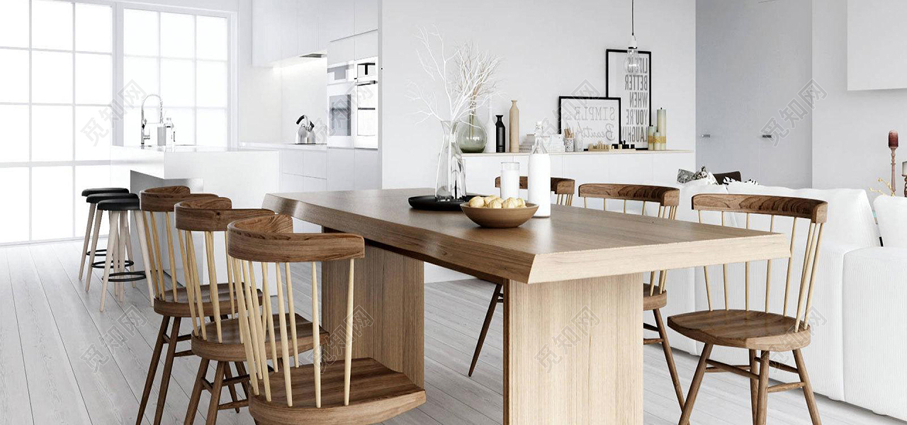 kitchen desk chair waverly curtains 北欧厨房桌椅摆设图免费下载 背景素材 觅知网 北欧厨房桌椅摆设图