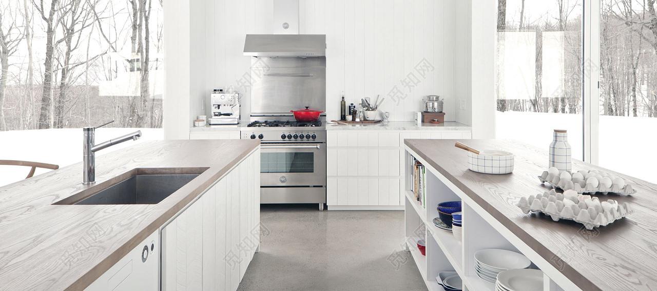 lowes kitchens kitchen bar stools amazon 白色低调厨房透视背景厨房免费下载 背景素材 觅知网 白色低调厨房透视背景厨房