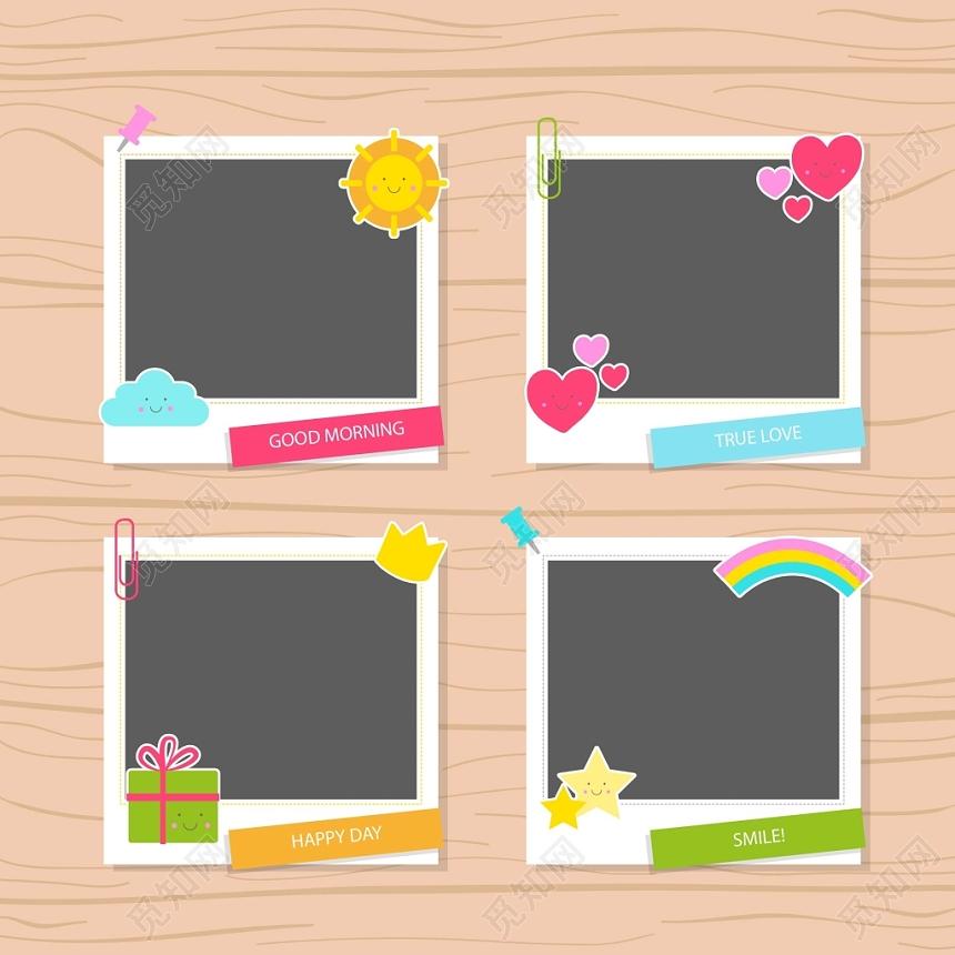 照片墻相框卡通邊框素材免費下載 - 覓知網