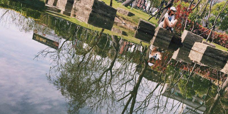 【台北土包子遊記】板橋春天看櫻花,原來就在萬坪都會公園(前名追風廣場)