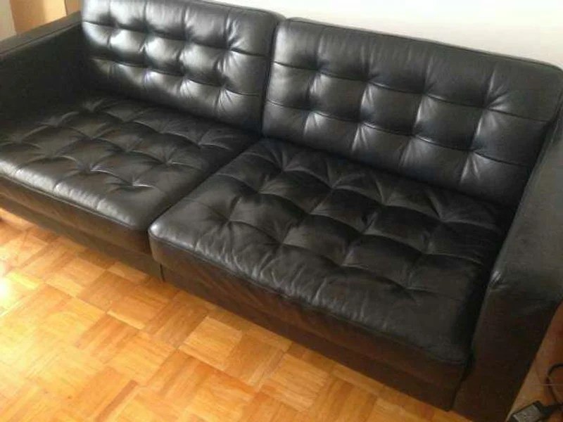 ikea modern genuine leather tufted sofa couch loveseat