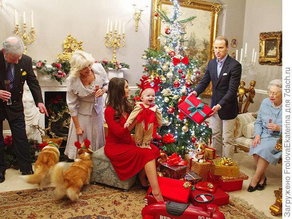 Рождество в королевской семье. Фото с сайта timeinc.net