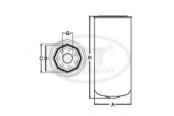 P 4159 FRAM Fuel filter
