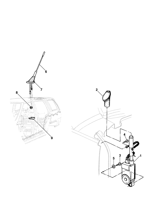 small resolution of manual and electric antenna