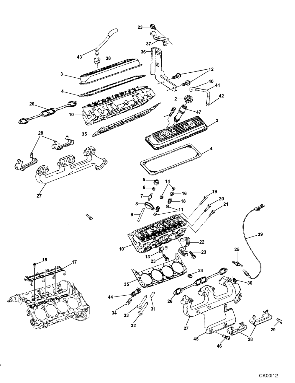 medium resolution of cylinder head and related parts l31 engine 1999