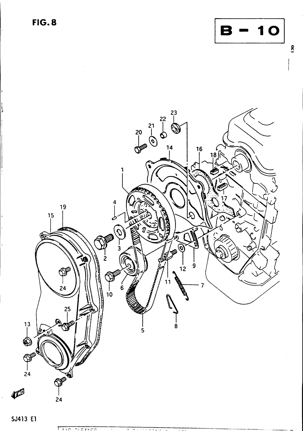 medium resolution of timing belt and cover