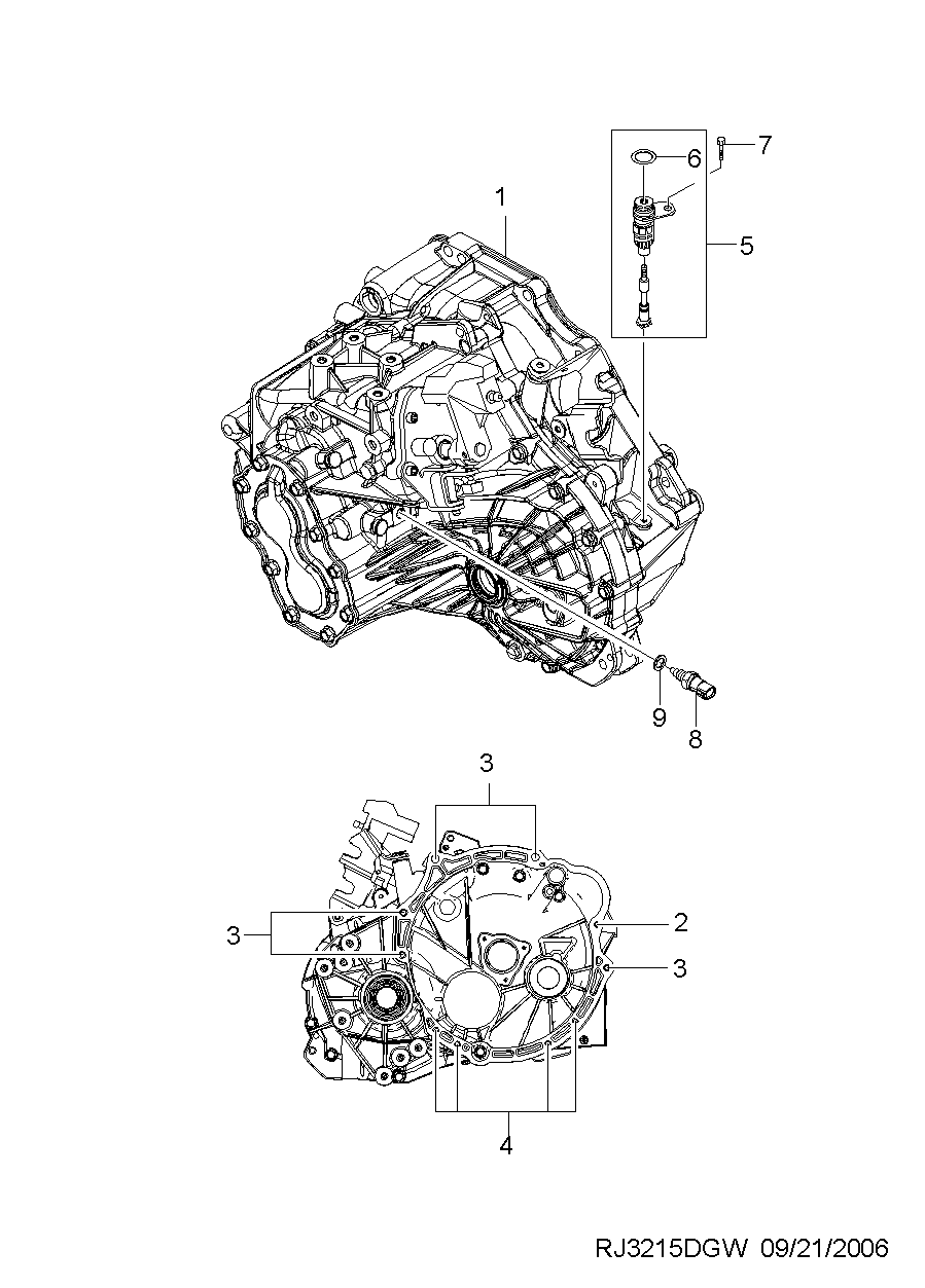 MANUAL TRANSAXLE(D33 TYPE) (3215) CHEVROLET lacetti