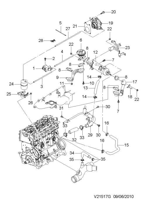 small resolution of e g r valve related parts diesel 1517 chevrolet epica v250 gen