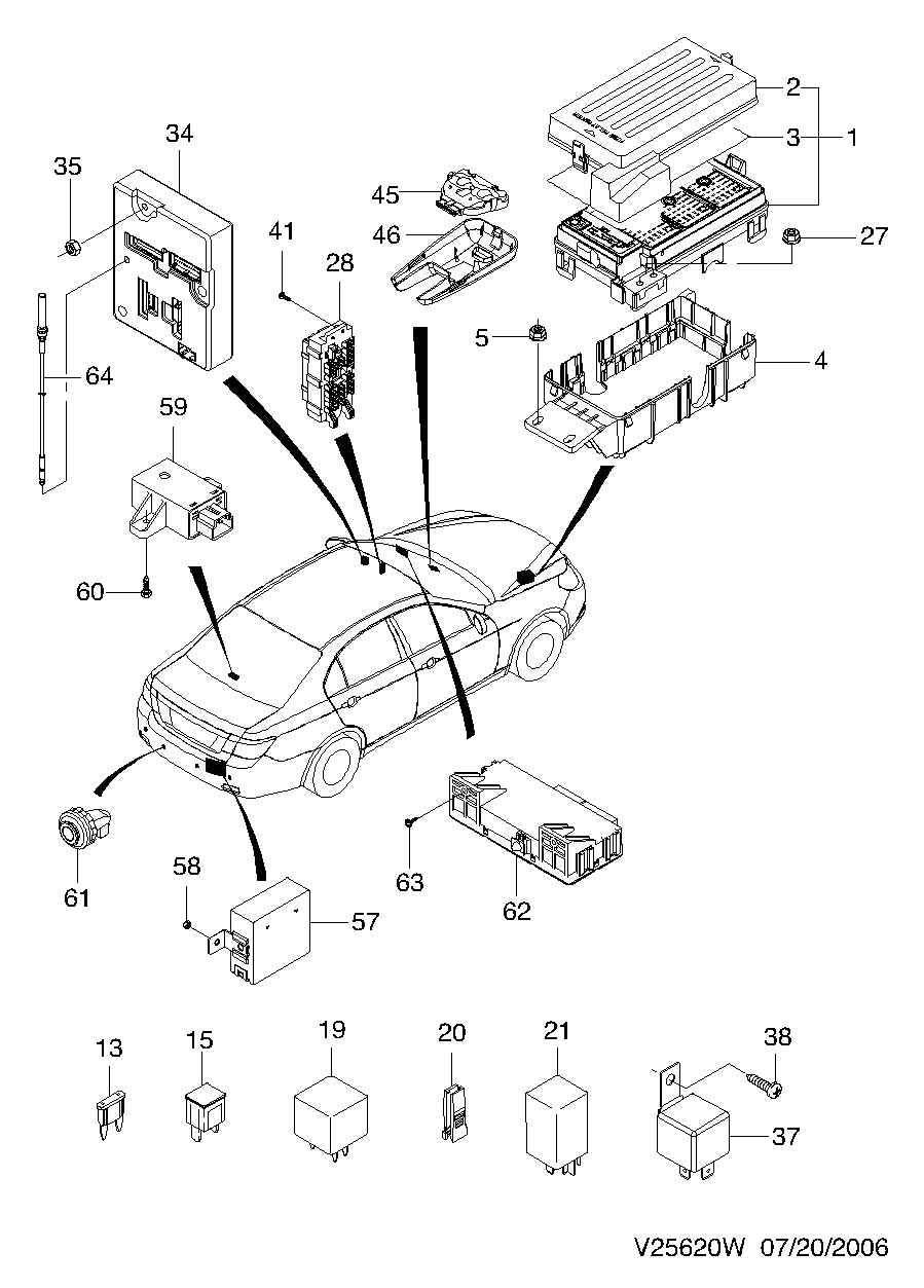 hight resolution of chevrolet epica fuse box