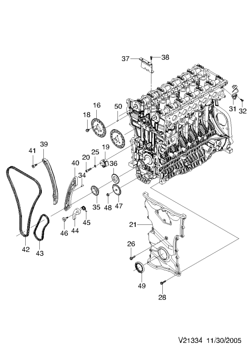 small resolution of timing cover xk l6 1334