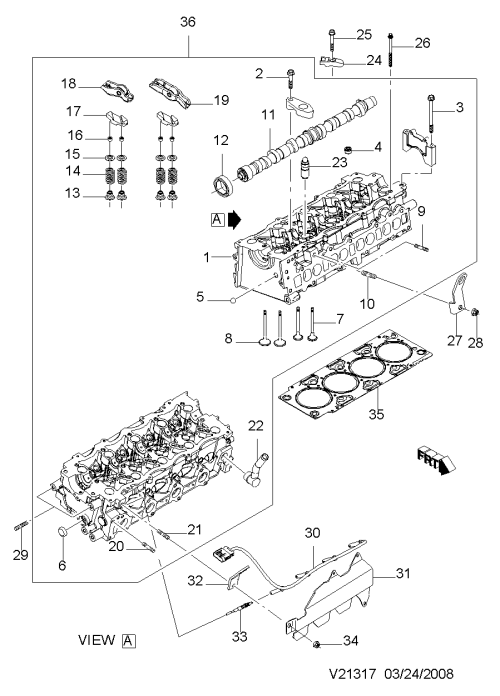 small resolution of cylinder head diesel 1317