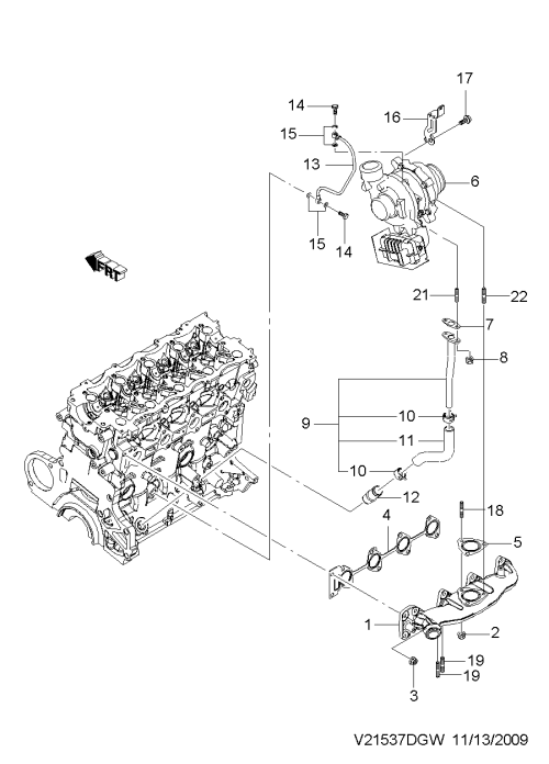 small resolution of exhaust manifold diesel 1537