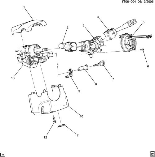 small resolution of 2006 2011 a steering column part 2 cover switches chevrolet hhr hhr 2006 hhr engine