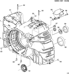 2011 2013 gm automatic transmission mh4 6t70 case assembly [ 2654 x 2516 Pixel ]